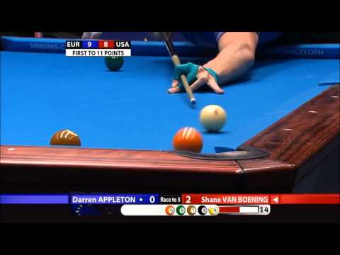 Appleton vs Van Boening - Mosconi Cup 2012 - Day 4 (720p)