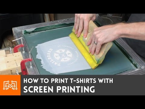 Screen Print Your Own T-shirts // How-To