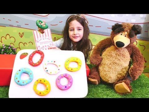 Play Doh donut Koca Ayı ile yapıyoruz! Oyun hamuru videosu