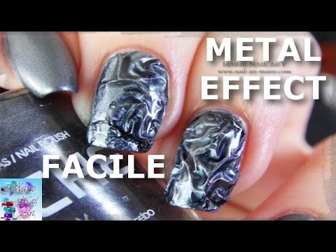 tutorial nail art - nail art effetto metal (facile)