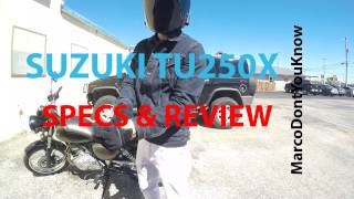 4. SuzukiTU250x Review/Specs (Best Review)