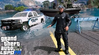 GTA 5 LSPDFR Police Patrol #689 Mandatory Evacuations Due To Storm Flooding