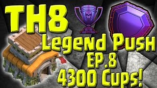 Video 4300 Cups - TH8 vs TH11 - Push Recap - TH8 Push to Legends Series - Episode 8 MP3, 3GP, MP4, WEBM, AVI, FLV Mei 2017