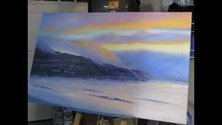 Speed Painting California Sunset Palos Verdes