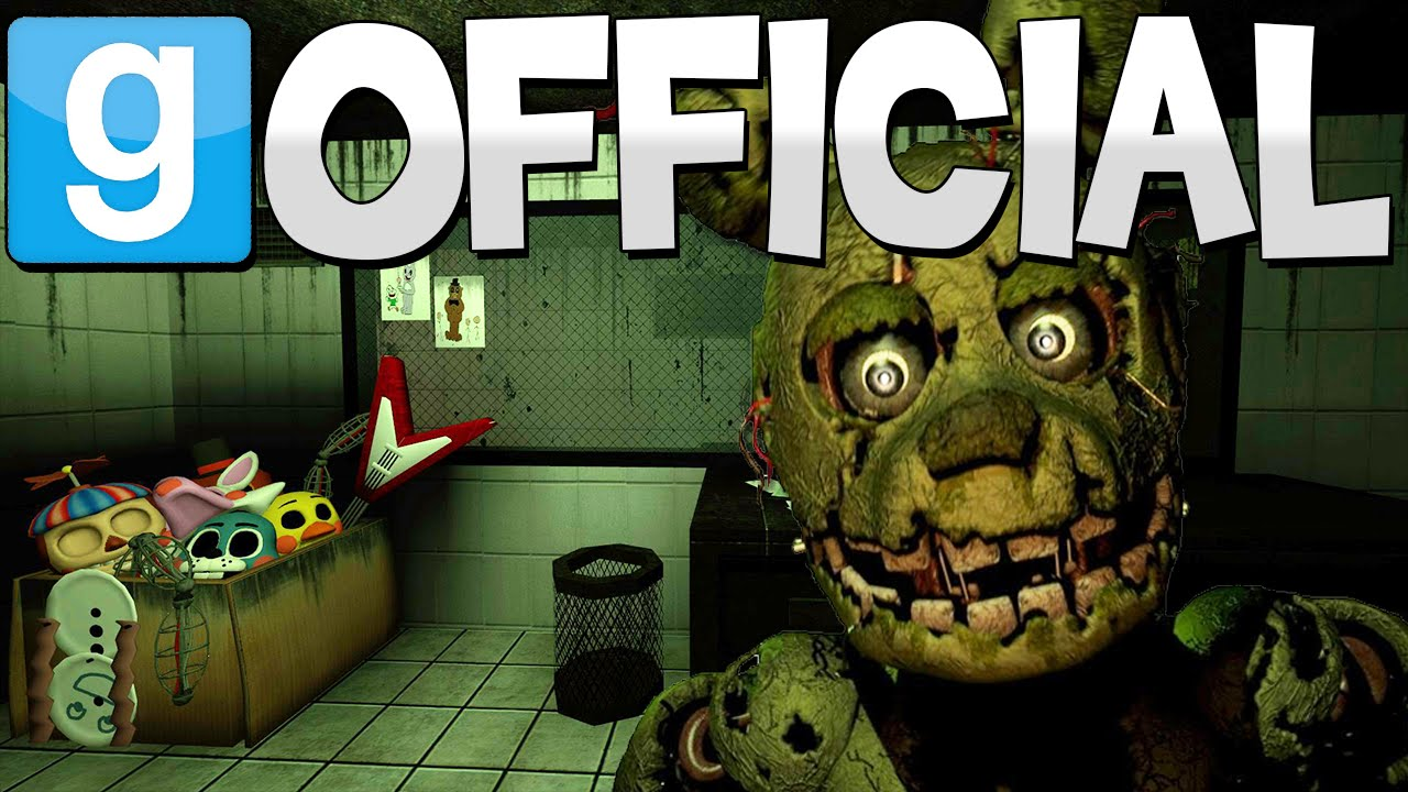 OFFICIAL FIVE NIGHTS AT FREDDY'S 3 MAP | Gmod Fazbear Fright Map | Sandbox Map Showcase