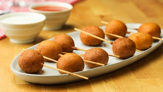 Buffalo Meatball Corn Dogs • Tasty by Tasty
