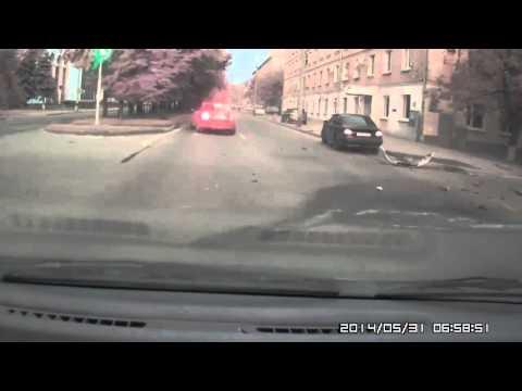 Авария на перекрестке в Краснодаре