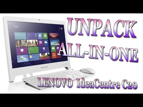 008 Unpack All in one LENOVO IdeaCentre C20 Распаковка Моноблок Леново