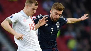 Steven Fletcher netted a hat-trick as Scotland overpowered Group D opponents Gibraltar to win 6-1 at Hampden Park. Shaun Maloney also scored two penalties an...