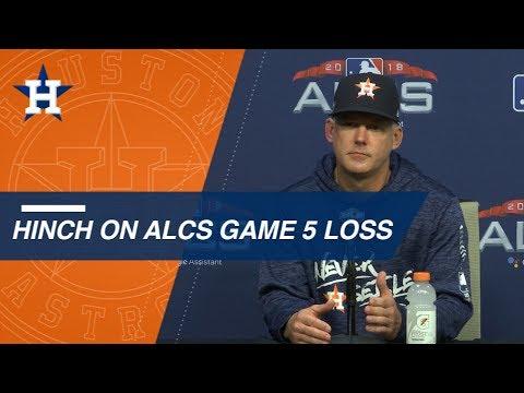 Video: ALCS Gm5: AJ Hinch on season ending loss in Game 5