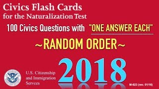 """Nonton 100 Civics Questions with """"ONE ANSWER EACH"""" in RANDOM Order U.S. Citizenship Naturalization 2018. Film Subtitle Indonesia Streaming Movie Download"""
