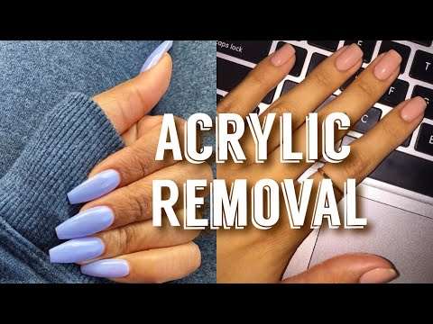 How To REMOVE ACRYLIC NAILS  Strengthen WEAK + BRITTLE Nails  Flawhs