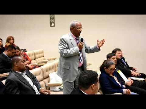 Diretor financeiro da APPMBA, SGT PM Antonio Jorge, fala durante encontro em Brasília
