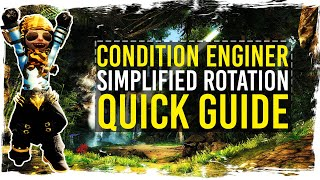 ✘ My simplified Condi Engineer rotation for Raids and Fractals. Enjoy :-) ✘Build: http://qtfy.eu/build/engineerFollowing links will support my channel if you use them:★ Buy Guild Wars 2: Heart of Thorns: http://guildwars2.go2cloud.org/aff_c?offer_id=6&aff_id=306★ Play for FREE: http://guildwars2.go2cloud.org/aff_c?offer_id=19&aff_id=306With the support of ArenaNet.★ WEBPAGE: http://www.tekkitsworkshop.net★ FACEBOOK: http://www.facebook.com/TekkitsWorkshop★ TWITTER: http://www.twitter.com/TekkitsWorkshop★ SUBSCRIBE! http://goo.gl/8pmdoL♫ Intro: TheFatRat - Monody - http://goo.gl/cwQrxy♫ Outro: TheFatRat - Windfall - http://goo.gl/D4eG33♫ Background: Misael Gauna - Paradise - https://goo.gl/p25jIJ
