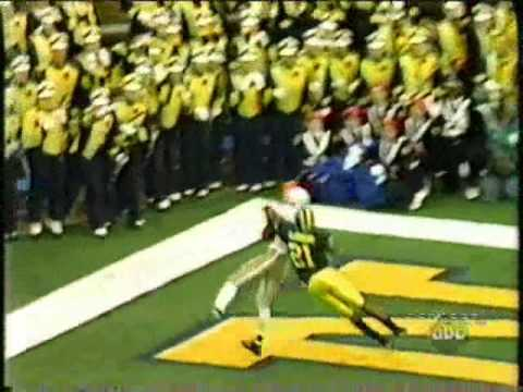 Santonio Holmes - 4 Santonio Holmes vs Michigan 2003-2005 -17 receptions -243 receiving yards -4 touchdowns.