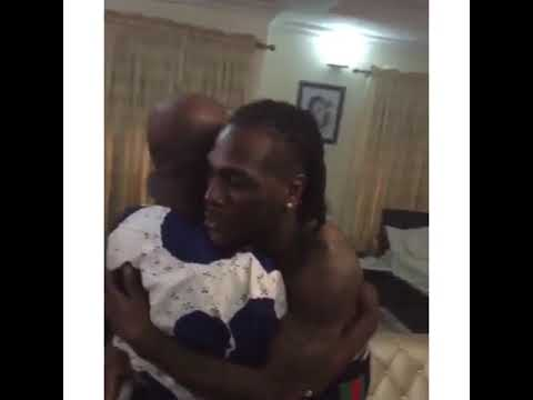 Burnaboy father visited him