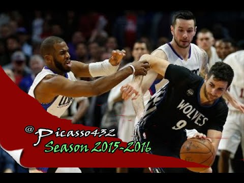 Ricky Rubio Highlights vs Clippers [8Pts,7Ast,5St] - (2016 02 03)