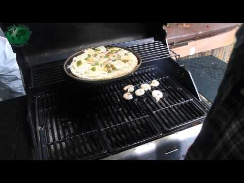 Grilled Pineapple Prawn Pizza Char Broil NonStop BBQ Marathon With Jimbo Jitsu Day 158