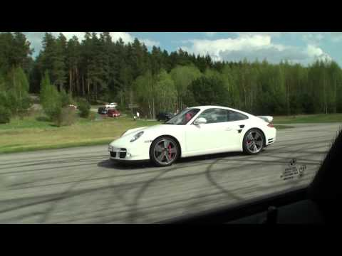 BMW M6 Coupe V8 Twin Turbo vs Porsche 911 Turbo PDK (both stock and both white)