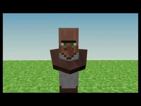 Minecraft- villagers dancing animation