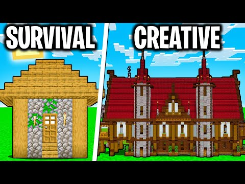 CASA CREATIVA (Cheat) vs CASA SURVIVAL - Minecraft ITA