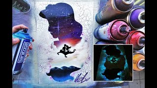 Download Lagu Aladdin GLOW IN DARK - SPRAY PAINT ART - by Skech Mp3
