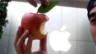 apple Appleストアを参考にAppleでAppleのロゴマークを作る