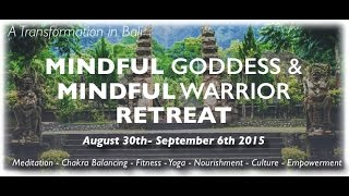 """Part 2/2:  2015 Bali Retreat & Malibu Bootcamp Yoga Meditate HikeMichele D'Angona & Natalia Stambouli discuss their new venture partnering up together for Michele's, """"Mindful-Warrior"""" and """"Mindful-Goddess"""" Retreats & Bootcamps! Nathania Stambouli is the CEO of www.flowtasticyoga.com & will leading the Yoga & meditation at the 2015 Mindful Goddess & Mindful Warrior Bali Retreat August 30th-September 6th."""