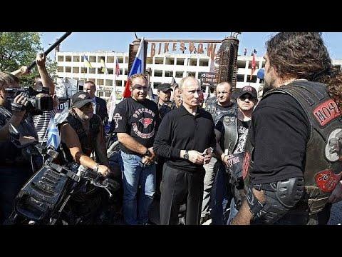 Ρώσοι μοτοσικλετιστές στην Πράγα