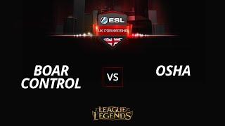 BoarControl vs Osha, game 1