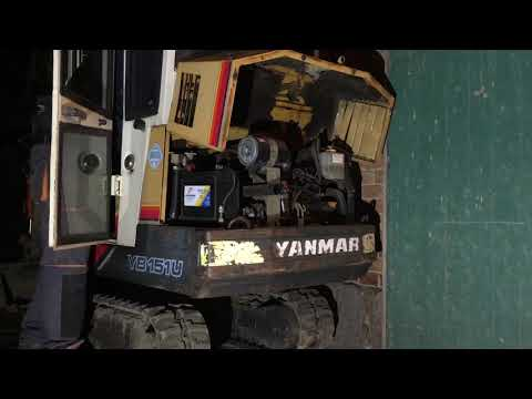 1987 Yanmar YB151-U 3TNA72 Diesel Engine Cold Start