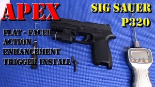 In this video I will be showing how to install the Apex Flat-Faced Action Enhancement Trigger on the Sig P320.  A very simple upgrade that improves the action of the, admittedly very decent, stock P320 trigger.