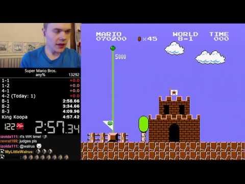 Рекорд в прохождении игры Super Mario Bros    менее 5 минут
