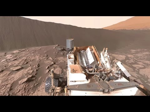 NASA's Curiosity Mars Rover at Namib Dune (360 Video)