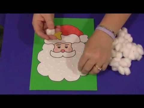 Cotton Ball Santa
