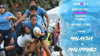 Asia Rugby Women Sevens Trophy 2018 Final Malaysia v Philippines