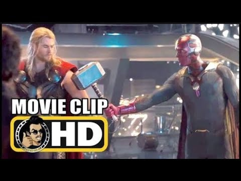 Vision Lifts Thor's Hammer - Creating Vision - Avengers Age of Ultron (2015) Movie Clip 4K