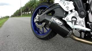 10. 2015 Yamaha fz-07 M4 exhaust sound