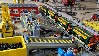 HUGE Lego train coal terminal fully automated by Arduino