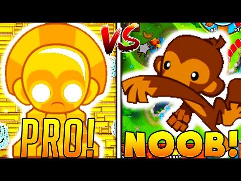 PRO VS NOOB - BLOONS TOWER DEFENSE BATTLE