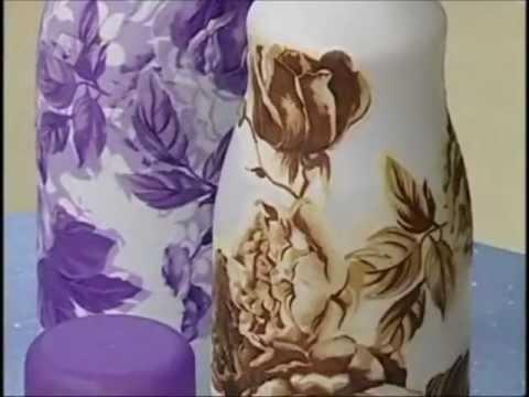 Colorgin no Ateliê na TV - Pintura e decoração em vidro