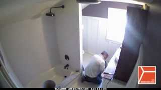 Bathroom Remodeling Day 3 – 38 secs. (time-lapse)