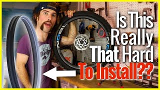 Cush core is a foam insert that eliminates nearly all pinch flats, acts as a bead lock, improves traction and ride quality. Sounds likes a win win, why wouldn't your run in it? IT'S REALLY HARD TO INSTALL (and expensive). In this video you will get to watch Phil struggle to install cush core. I should add, I did watch the installation guide multiple times, but even after doing that, my first experience with installing the cush core insert was very frustrating. However, knowing what I know now, the next experience should be much easier.SUBSCRIBE ▶︎ https://goo.gl/xu5U0hPatreon Community ▶︎ https://goo.gl/8SHpPFMost Recent ▶︎ https://goo.gl/10Kw6d8 Simple MTB Tricks ▶︎ https://www.youtube.com/watch?v=Uuyn7A1Yb8A&list=PLKhb73W7eMRH_Ov7BeDivctjXAD2bTsOJ&index=18 Fun MTB Tricks ▶︎ https://www.youtube.com/watch?Walmart Bike Torture Test ▶︎ https://youtu.be/wkMnk_eCDQU?list=PLKhb73W7eMREOqKUAP4u-qXKzvgUy0zGWEvil Calling ▶︎ https://www.youtube.com/watch?v=5irX8yVn0uw&list=PLKhb73W7eMREOqKUAP4u-qXKzvgUy0zGW&index=2