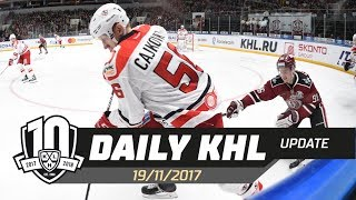 Daily KHL Update - November 19th, 2017 (English)
