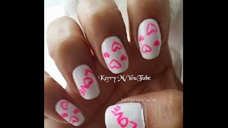 Hi All! So here is a super easy and quick nail design for St. Valentine's Day. I think it's fun and of course you have to do the pink!! I hope you all enjoy! Be Blessed!! KerryCatch me on the following sites:http://pinterest.com/vxhoneyxv8 https://www.facebook.com/VxHONEYxV8 https://twitter.com/VxHONEYxV8 http://my.coolnailsart.com/profile/Kerry I have an Instagram as well, but don't know the link just look me up by VxHONEYxV8