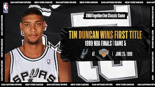 Tim Duncan leads Spurs to first championship in Game 5 of the 1999 #NBAFinals | #NBATogetherLive by NBA
