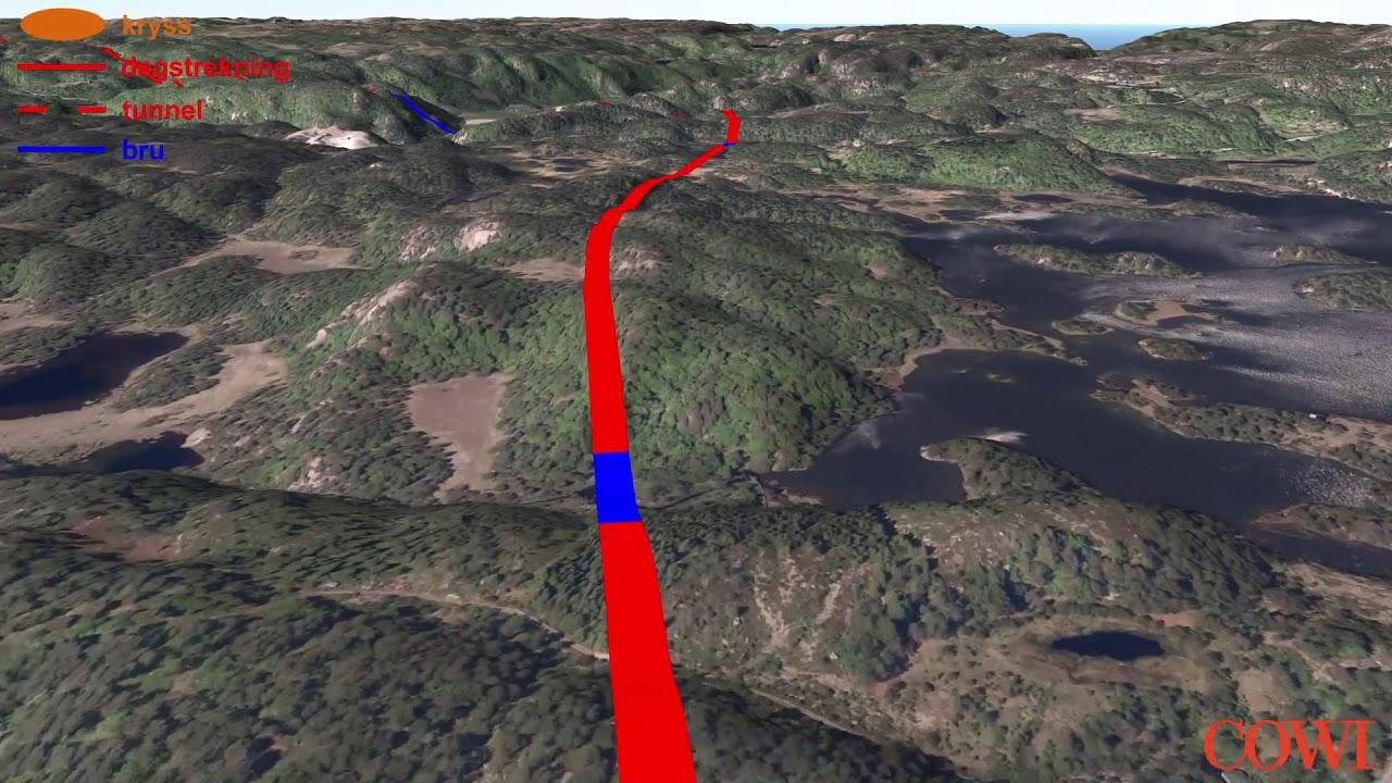 Se animasjonen av E39, Mandal- Lyngdal