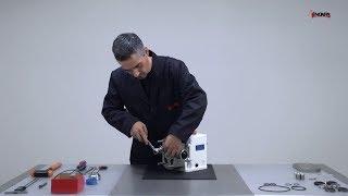 SLR lamelové čerpadlo - proces změny jednoduchých mechanických ucpávek