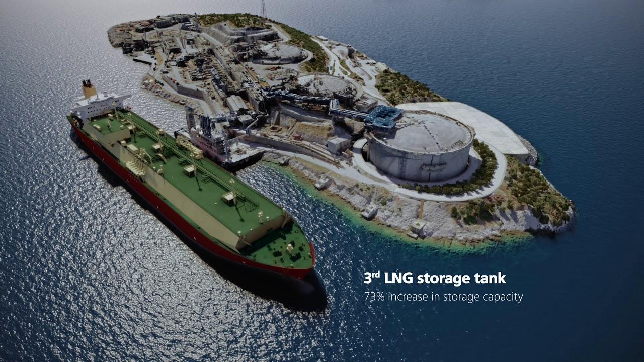 Ο αναβαθμισμένος τερματικός σταθμός υγροποιημένου φυσικού αερίου στη Ρεβυθούσα Αττικής