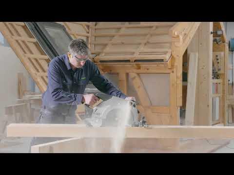 Видео Пила плотницкая ручная дисковая Festool HK 132 E